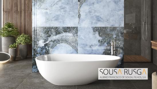 Decorações exóticas podem dar destaque às paredes da sua sala de banho